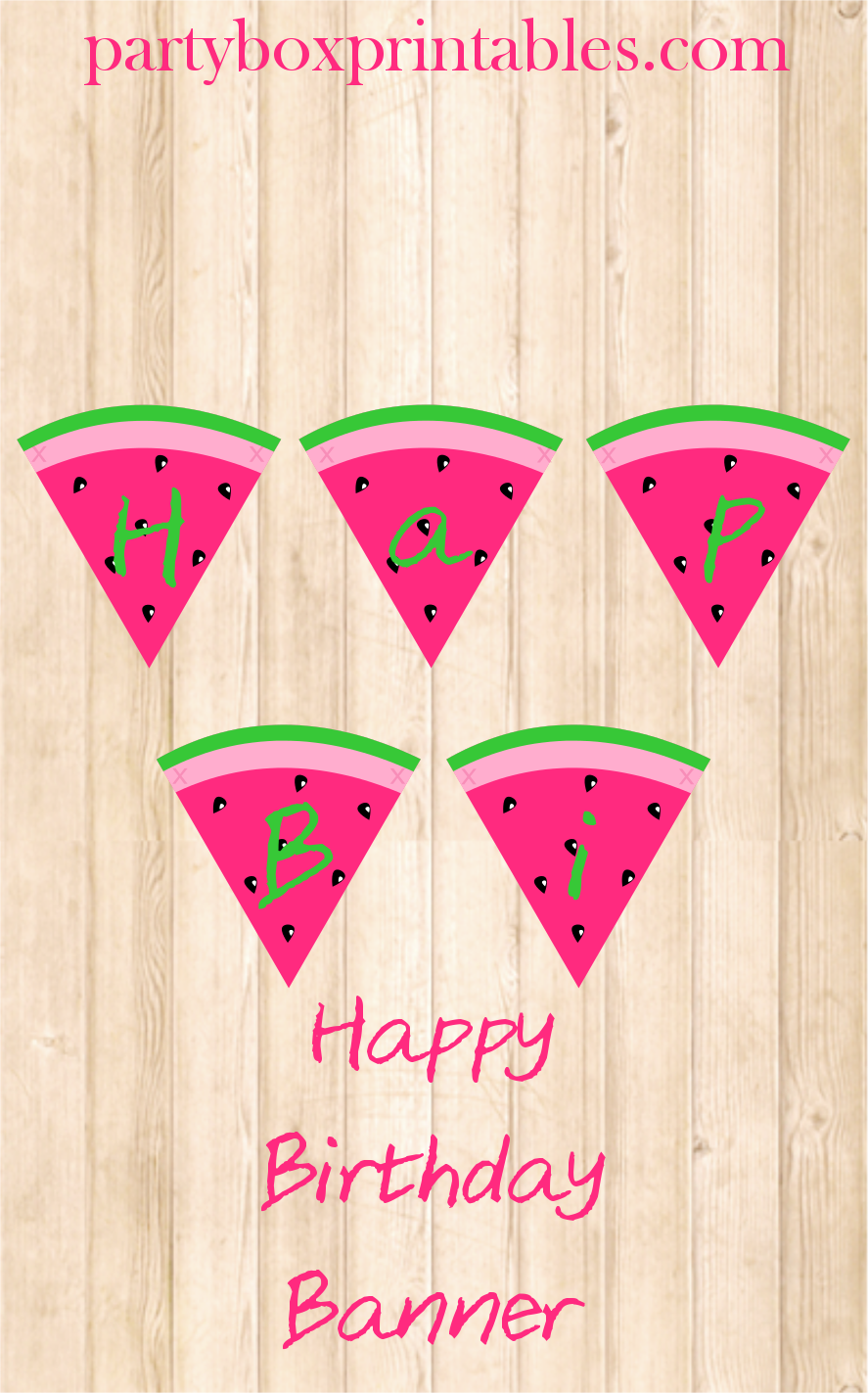 watermelon birthday party hanging banner