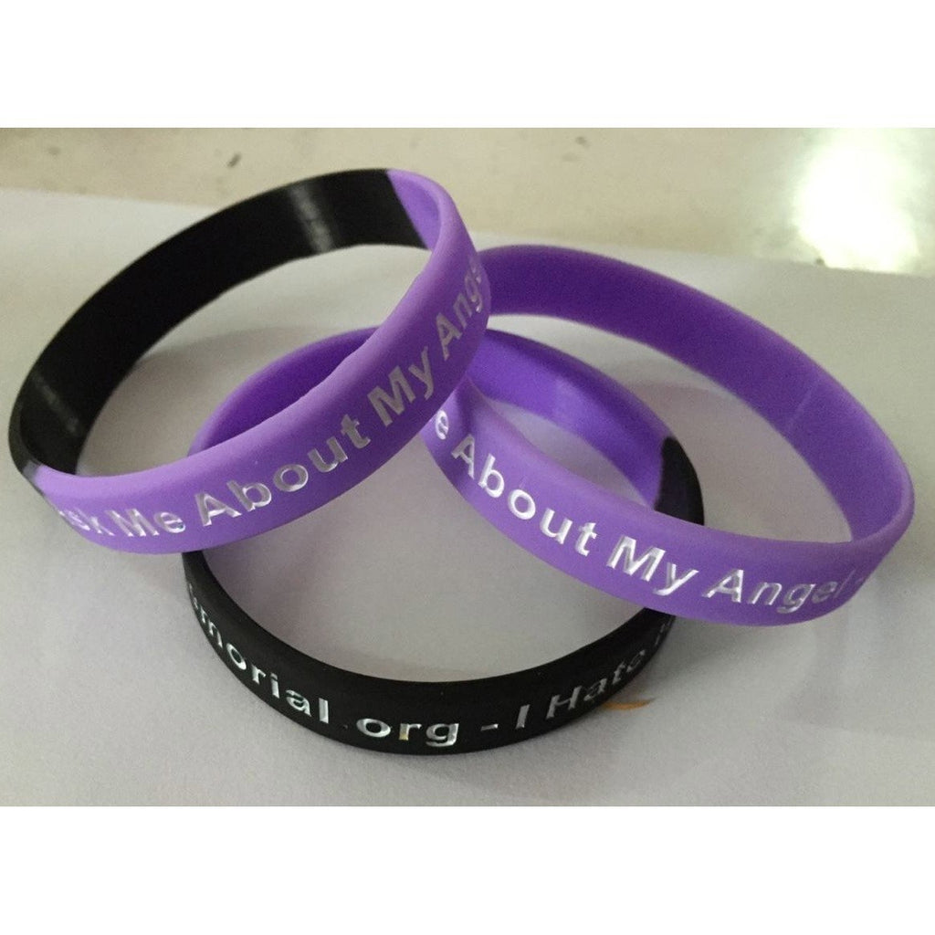 'Ask Me About My Angel' Father wears bracelet after daughter dies from heroin overdose