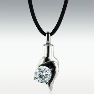 Eternal Flame Stainless Steel Cremation Jewelry - Engravable - HeroinSupport.org