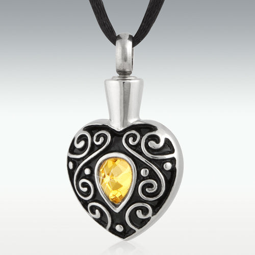 Sunshine Love Stainless Steel Cremation Jewelry - Engravable - HeroinSupport.org