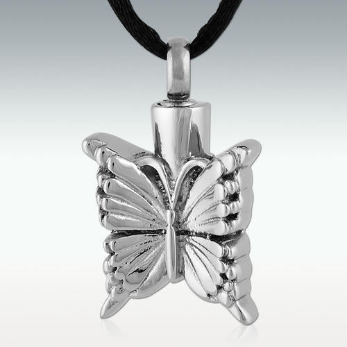 Floating Butterfly Stainless Steel Cremation Jewelry-Engravable - HeroinSupport.org