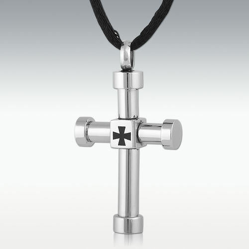 Baltic Cross Stainless Steel Cremation Jewelry - HeroinSupport.org