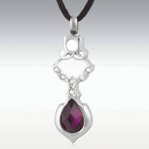 Callisto Stone Stainless Steel Cremation Jewelry - Engravable - HeroinSupport.org