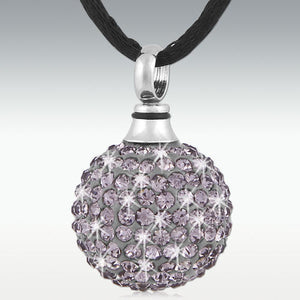 Crystal Ball Alexandrite Stainless Steel Cremation Jewelry - HeroinSupport.org