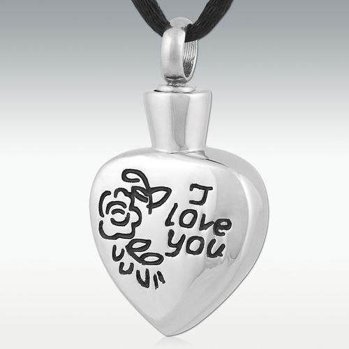 I Love You Stainless Steel Cremation Jewelry - HeroinSupport.org