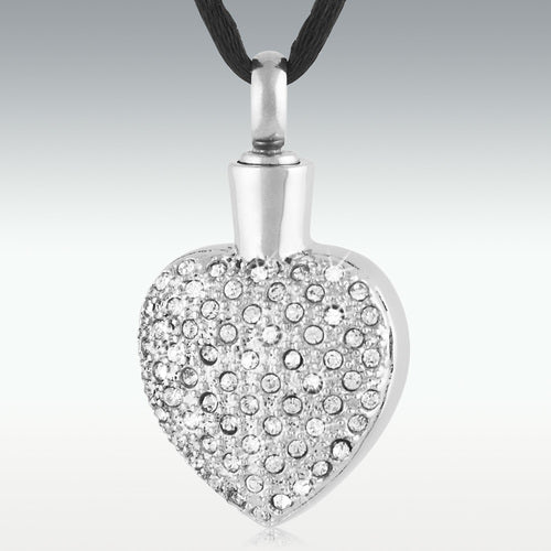 Marvelous Heart Stainless Steel Cremation Jewelry - Engravable - HeroinSupport.org