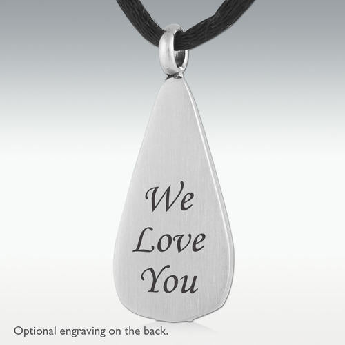 Loving Tear Death Stone Stainless Steel Cremation Jewelry - HeroinSupport.org