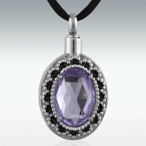 Filled With Lilacs Stainless Steel Cremation Jewelry-Engravable - HeroinSupport.org