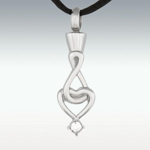 Infinite Heart Stainless Steel Cremation Jewelry-Engravable - HeroinSupport.org