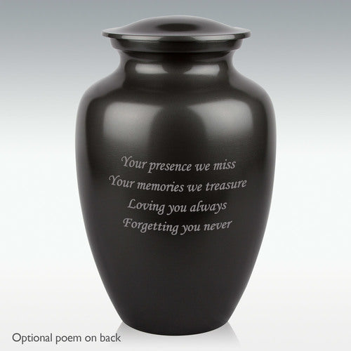 Extra Large Classic Aluminum Cremation Urn - Engravable - HeroinSupport.org