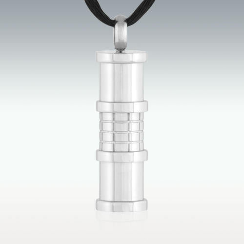 Brick Cylinder Stainless Steel Cremation Jewelry - Engravable - HeroinSupport.org
