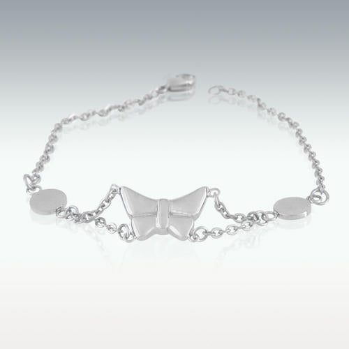 Butterfly Charm Bracelet Cremation Jewelry - 8