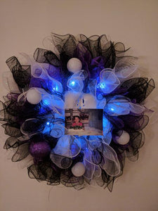 Wreath - Overdose Colors - Purple, Black & White - HeroinSupport.org