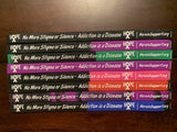 """No More Stigma or Silence - Addiction is a Disease - www.HeroinSupport.org"" - Wristband - HeroinSupport.org"