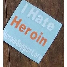 "Window Decal - I Hate Heroin - 3"" x 3"" - HeroinSupport.org"