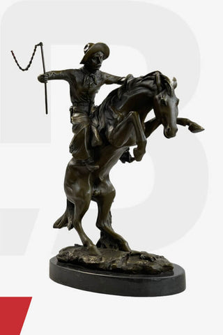 Western Themed Bronze Statues & Sculptures