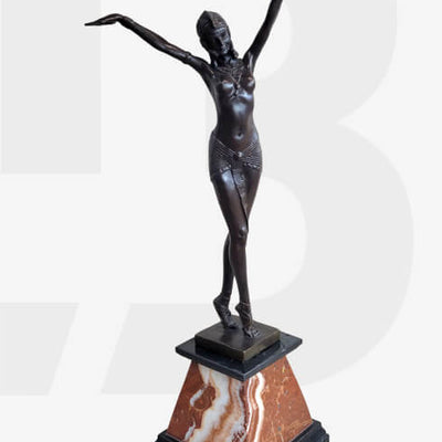 Bronze Dancer Sculptures, Statues, and Figurines