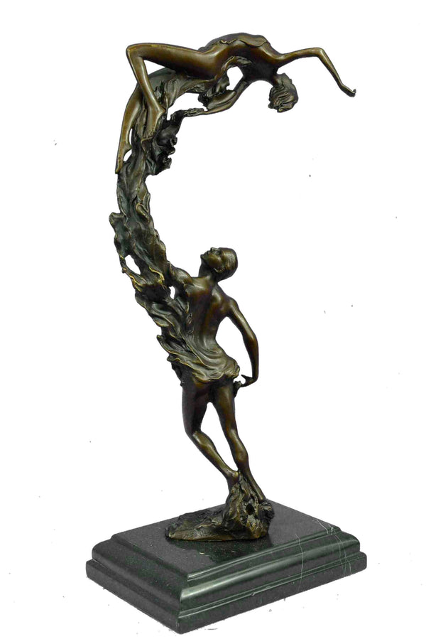 ORIGINAL DREAM DANCE BY ALDO VITALEH BRONZE SCULPTURE HOT CAST ART DECO FIGURINE