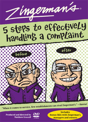Training DVD: Zingerman's 5 Steps to Effectively Handling Complaints