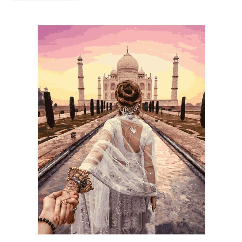Lead the Way Indian Taj Mahal DIY Painting By Numbers