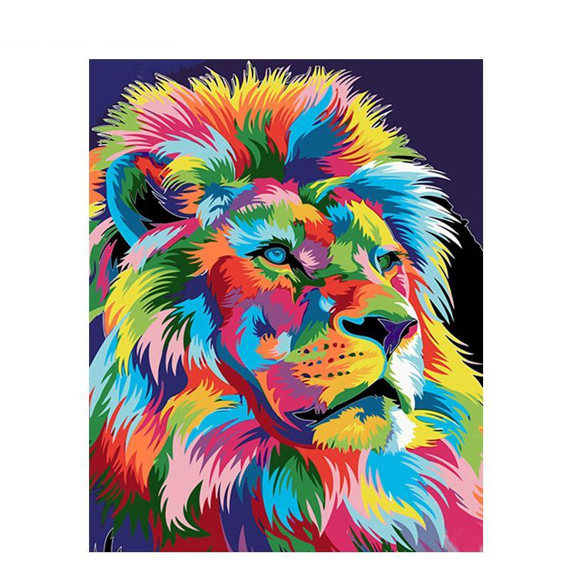 Colourful Lion DIY Painting By Numbers