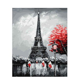 Paris Eiffel Tower DIY Painting By Numbers