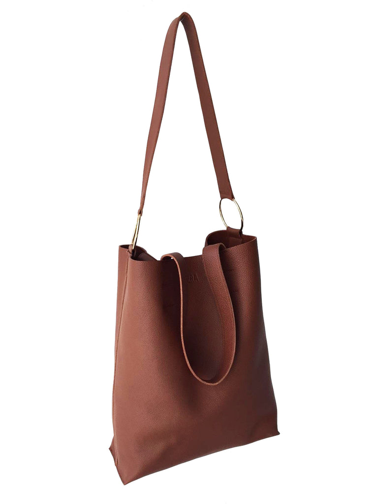 tan tote large full grain natural camel leather handmade gold rings