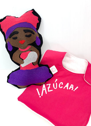 Celia Cruz Plush & Bib Bundle