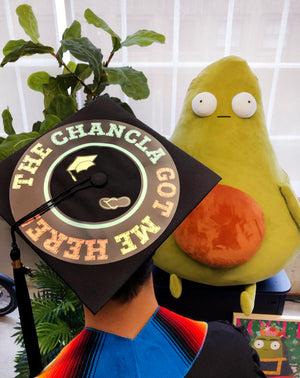 The Chancla Graduation Cap Stickers