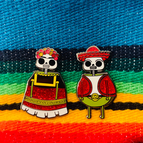 Guacardo skeletons pin pack