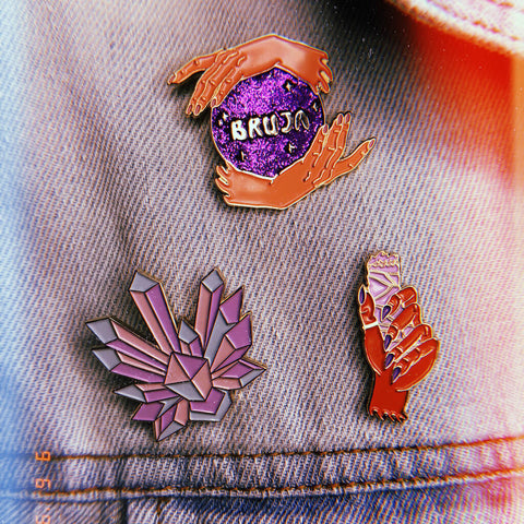 Bruja Pin - we are mitu - Fierce - mittu shop - enamel pins