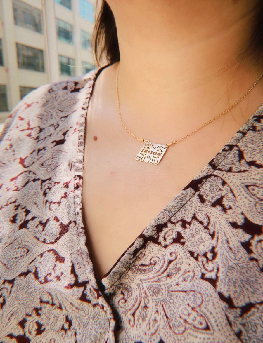 Papel Picado Love Necklace