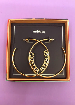 Poderosa Hoop Earrings