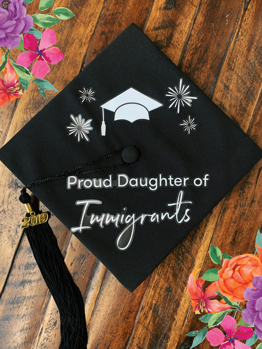 Proud Daughter Graduation Cap Sticker