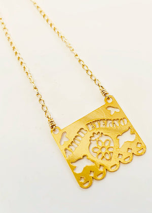 Papel Picado Amor Eterno Necklace