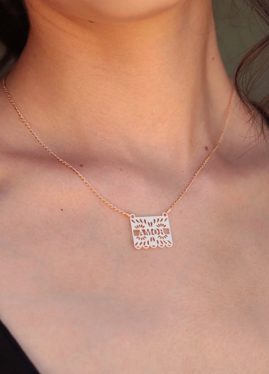 Papel Picado Amor Necklace