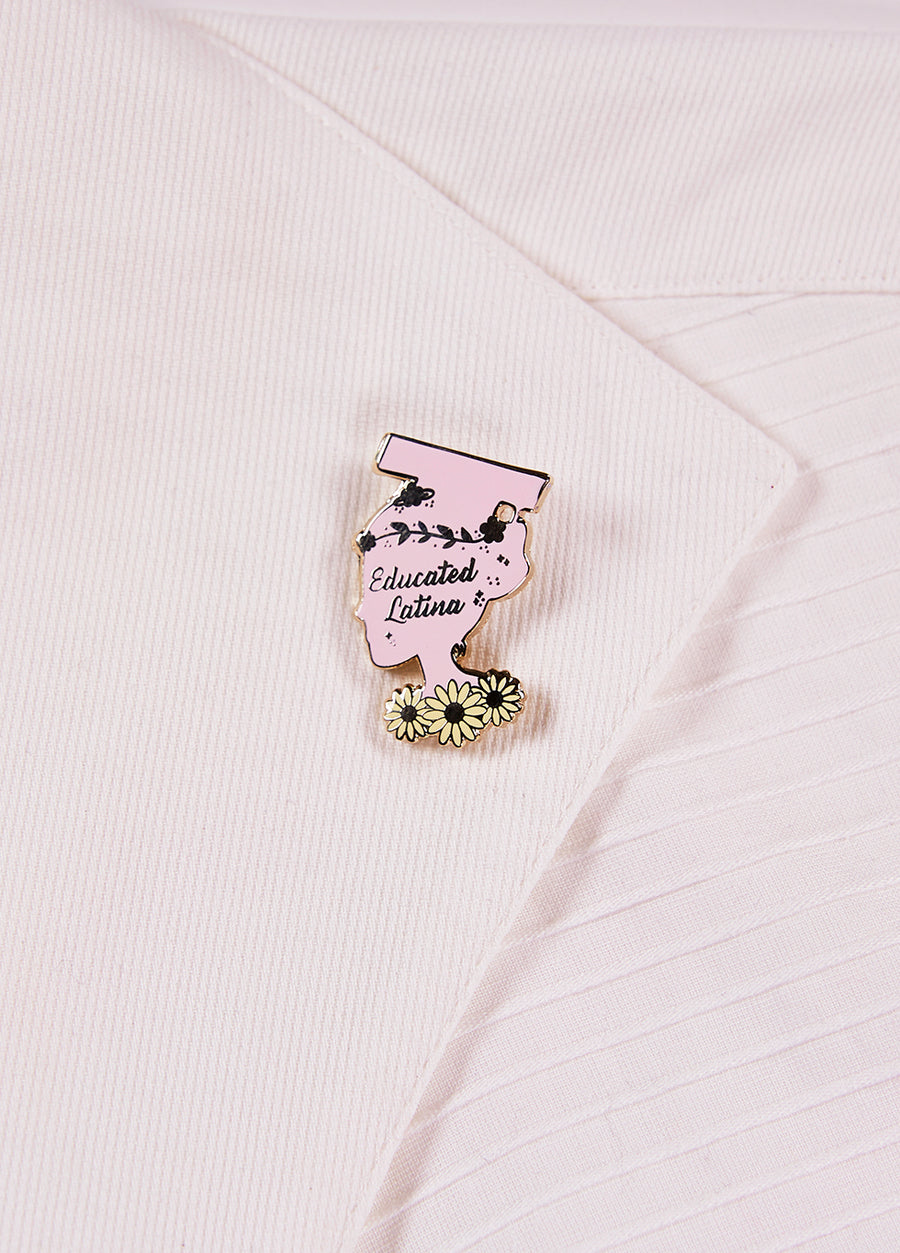Educated Latina Cap Pin