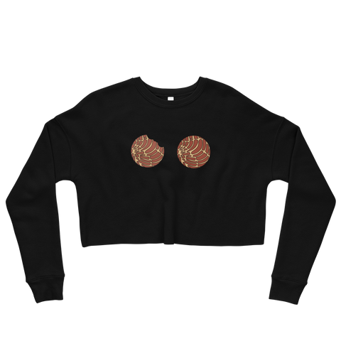 Brown Concha Crop Sweatshirt