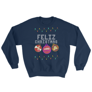 pretty christmas sweater- blue