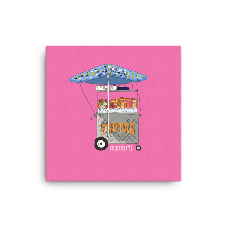 Fruit carting Canvas print