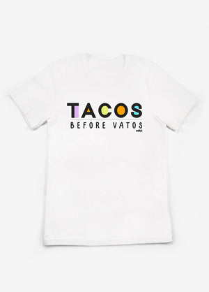 Tacos_Before_Vatos_T-Shirt_White