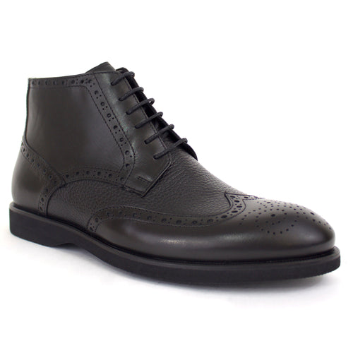 The Thompson Wingtip Dress Boot In Black