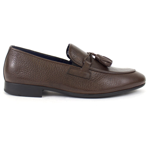 The Theo Tassel Leather Loafer in Brown