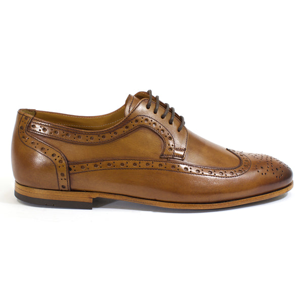 leather tobacco wingtip