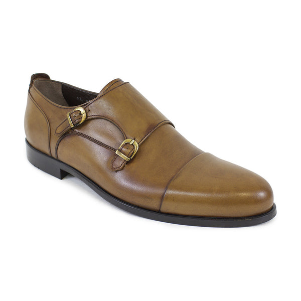 The Bentley Double-Monk Strap Dress Shoe in Tobacco