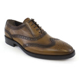 tobacco oxford wingtip dress shoe