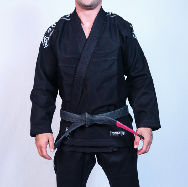 Kids Hooks Origin BJJ Gi - Black with White Belt