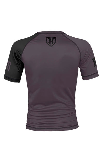 KIDS GREY RANKED RASH GUARD SHORT SLEEVE