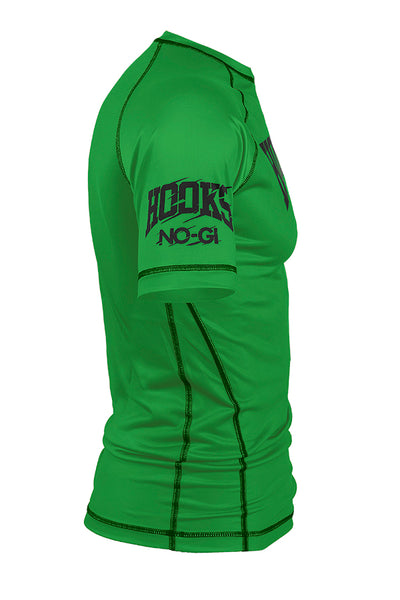 KIDS GREEN RANKED RASH GUARD SHORT SLEEVE