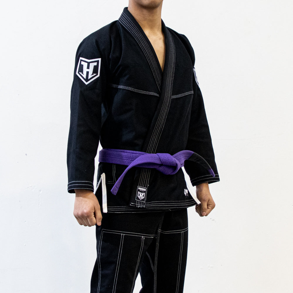 Hooks Prolight BJJ Gi - Black w/ White
